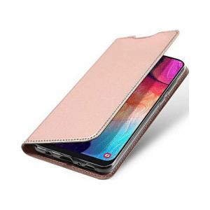Husa Samsung Galaxy A70 2019 Toc Flip Portofel Roz Piele Eco DuxDucis3