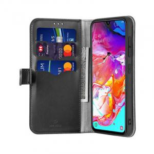 Husa Samsung Galaxy A70 2019 Toc Flip Tip Carte Portofel Negru Piele Eco Premium DuxDucis Kado [1]