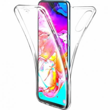 Husa Samsung Galaxy A70 Full Cover 360 Grade Transparenta