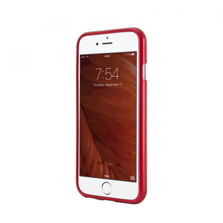 Husa Samsung Galaxy A70 Rosu Jelly Metal1