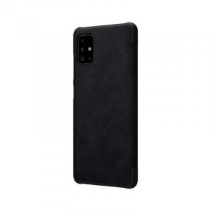 Husa Samsung Galaxy A71 2020 Negru Toc Flip Nillkin Qin Piele Eco Premium Tip Carte Portofel5