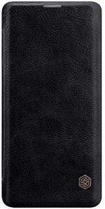 Husa Samsung Galaxy A71 2020 Negru Toc Flip Nillkin Qin Piele Eco Premium Tip Carte Portofel0