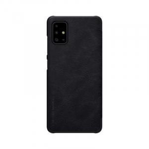Husa Samsung Galaxy A71 2020 Negru Toc Flip Nillkin Qin Piele Eco Premium Tip Carte Portofel1