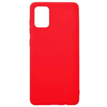 Husa Samsung Galaxy A71 2020 Rosu Silicon Slim protectie Carcasa [0]