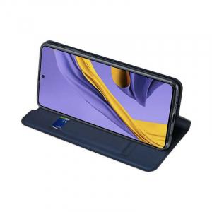 Husa Samsung Galaxy A71 2020 Toc Flip Portofel Bleumarin Piele Eco DuxDucis2
