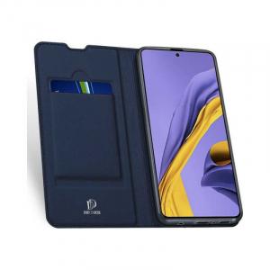 Husa Samsung Galaxy A71 2020 Toc Flip Portofel Bleumarin Piele Eco DuxDucis1