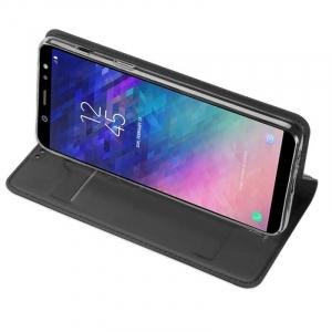 Husa Flip Samsung Galaxy A71 Tip Carte Negru Skin DuxDucis2