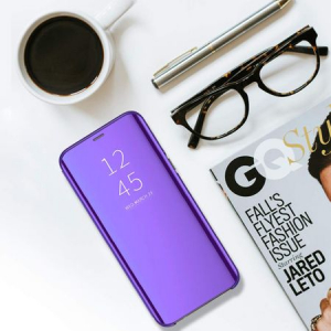 Husa Samsung Galaxy A9 2018 Clear View Flip Standing Cover (Oglinda) Mov (Purple)3