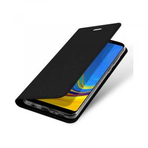 Husa Samsung Galaxy A9 2018 Toc Flip Portofel Negru Piele Eco DuxDucis3