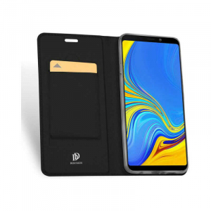 Husa Samsung Galaxy A9 2018 Toc Flip Portofel Negru Piele Eco DuxDucis1