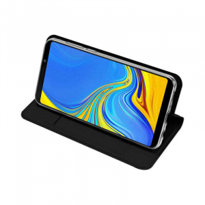 Husa Samsung Galaxy A9 2018 Toc Flip Portofel Negru Piele Eco DuxDucis2