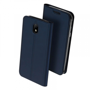 Husa Samsung Galaxy J3 2017 Toc Flip Tip Carte Portofel Bleumarin Piele Eco Premium DuxDucis0