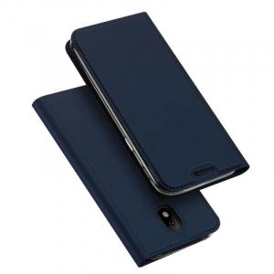 Husa Samsung Galaxy J3 2017 Toc Flip Tip Carte Portofel Bleumarin Piele Eco Premium DuxDucis4