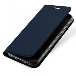 Husa Samsung Galaxy J3 2017 Toc Flip Tip Carte Portofel Bleumarin Piele Eco Premium DuxDucis3