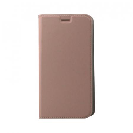 Husa Flip Samsung Galaxy J4 Plus 2018 Tip Carte Roz Focus0