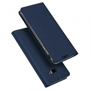 Husa Flip Samsung Galaxy J4 Plus 2018 Tip Carte Bleumarin Skin DuxDucis4