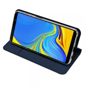 Husa Flip Samsung Galaxy J4 Plus 2018 Tip Carte Bleumarin Skin DuxDucis2