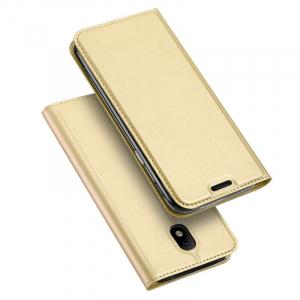 Husa Samsung Galaxy J5 2017 Toc Flip Tip Carte Portofel Auriu Gold Piele Eco Premium DuxDucis [4]