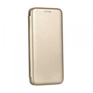 Husa Samsung Galaxy J6 2018 Gold Auriu Tip Carte / Toc Flip din Piele Ecologica Portofel cu Inchidere Magnetica0