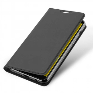 Husa Samsung Galaxy J6 2018 Toc Flip Tip Carte Portofel Negru Piele Eco Premium DuxDucis [3]