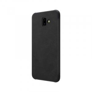 Husa Samsung Galaxy J6 Plus 2018 Negru Toc Flip Nillkin Qin Piele Eco Premium Tip Carte Portofel4