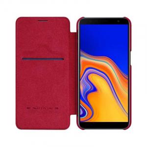 Husa Samsung Galaxy J6 Plus 2018 Rosu Toc Flip Nillkin Qin Piele Eco Premium Tip Carte Portofel2