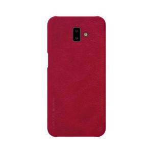 Husa Samsung Galaxy J6 Plus 2018 Rosu Toc Flip Nillkin Qin Piele Eco Premium Tip Carte Portofel1