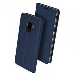 Husa Flip Samsung Galaxy J6 Plus 2018 Tip Carte Bleumarin Skin DuxDucis0