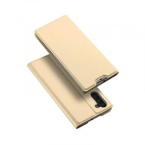 Husa Flip Samsung Galaxy Note 10 Tip Carte Auriu Skin DuxDucis4
