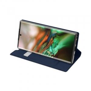 Husa Flip Samsung Galaxy Note 10 Tip Carte Bleumarin Skin DuxDucis2