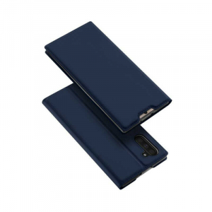 Husa Flip Samsung Galaxy Note 10 Tip Carte Bleumarin Skin DuxDucis4