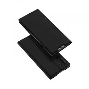 Husa Flip Samsung Galaxy Note 10 Tip Carte Negru Skin DuxDucis4