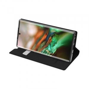 Husa Flip Samsung Galaxy Note 10 Tip Carte Negru Skin DuxDucis2