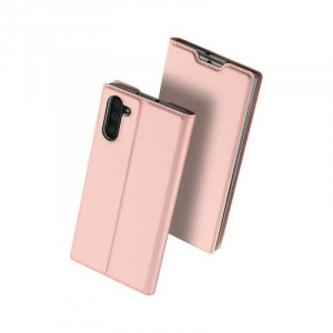 Husa Samsung Galaxy Note 10 2019 Toc Flip Portofel Roz Piele Eco DuxDucis [0]