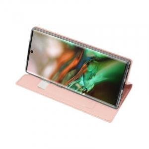 Husa Samsung Galaxy Note 10 2019 Toc Flip Portofel Roz Piele Eco DuxDucis [2]