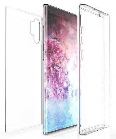Husa Samsung Galaxy Note 10 360 Grade Silicon Fata Spate Transparenta0