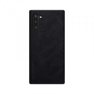 Husa Samsung Galaxy Note 10 Plus 2019 Negru Toc Flip Nillkin Qin Piele Eco Premium Tip Carte Portofel1