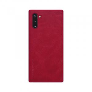 Husa Samsung Galaxy Note 10 Plus 2019 Rosu Toc Flip Nillkin Qin Piele Eco Premium Tip Carte Portofel1