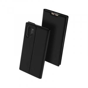 Husa Samsung Galaxy Note 10 Plus 2019 Toc Flip Portofel Negru Piele Eco DuxDucis [0]