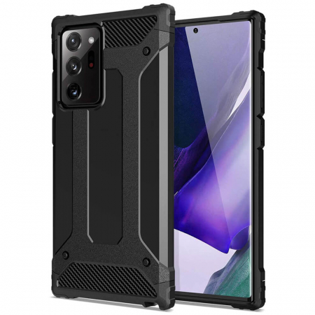 Husa Samsung Galaxy Note 20 Ultra Silicon Antisoc Negru Hybrid Armor