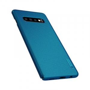 Husa Samsung Galaxy S10 2019 Carcasa Spate Albastru Premium Nillkin Frosted [1]