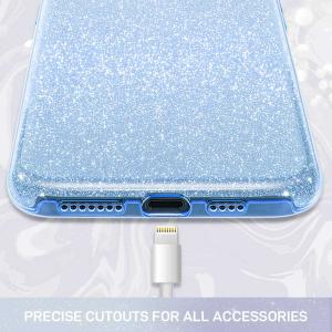 Husa Samsung Galaxy S10 2019 Color Silicon TPU Carcasa Sclipici Albastru1