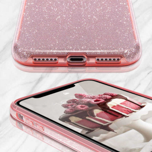Husa Samsung Galaxy S10 Color Silicon Sclipici Roz1