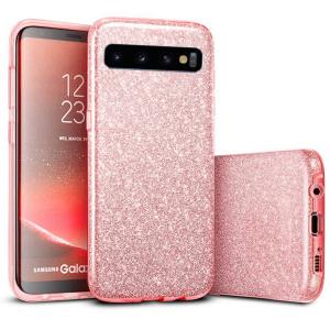 Husa Samsung Galaxy S10 Color Silicon Sclipici Roz0