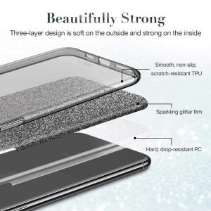 Husa Samsung Galaxy S10 2019 Color Silicon TPU Carcasa Sclipici Roz [4]