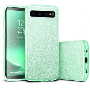 Husa Samsung Galaxy S10 Color Silicon Sclipici Verde0