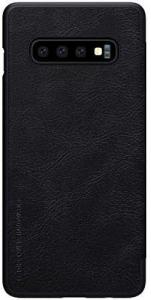 Husa Flip Samsung Galaxy S10 Negru Tip Carte Magnetica Nillkin Qin2