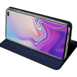 Husa Samsung Galaxy S10 2019 Toc Flip Tip Carte Portofel Piele Eco Premium DuxDucis Albastru [2]