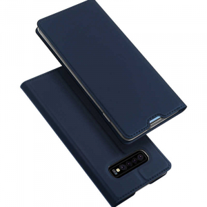 Husa Samsung Galaxy S10 2019 Toc Flip Tip Carte Portofel Piele Eco Premium DuxDucis Albastru [4]