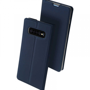 Husa Samsung Galaxy S10 2019 Toc Flip Tip Carte Portofel Piele Eco Premium DuxDucis Albastru [0]
